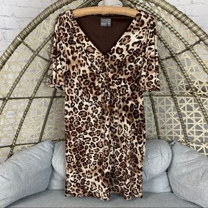 Muse V Neck Leopard Dress